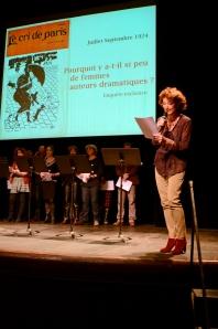 Lecture Cri de Paris - Théâtre de l'Athénée